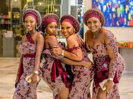 Getting Married Soon? Check Out The Hottest Inspirations For You and Your Asoebi Squad