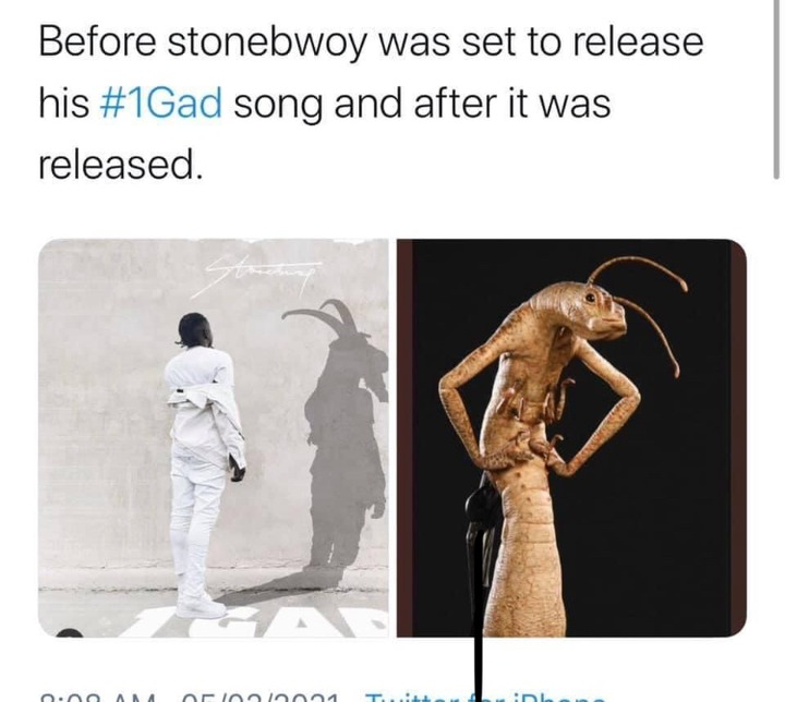 da5eafff646d4230a234b61da2c4384f?quality=uhq&resize=720 - Disappointed Netizens Troll & Blast Stonebwoy After Releasing The Much Anticipated '1GAD' Song