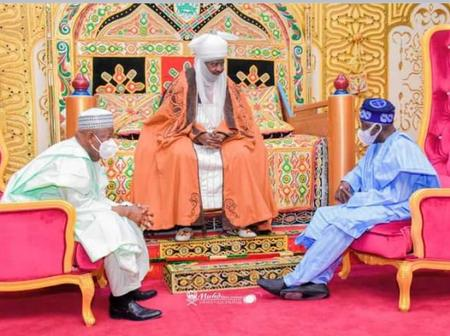 12 Photos: Emir of Kano, Alhaji Aminu Ado Bayero receives Senator Bola Ahmed Tinubu in his Palace.