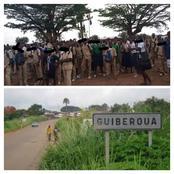 Guiberoua / manifestation d'élèves du lycée municipal pour déficit de professeurs: bilan 2 blessés