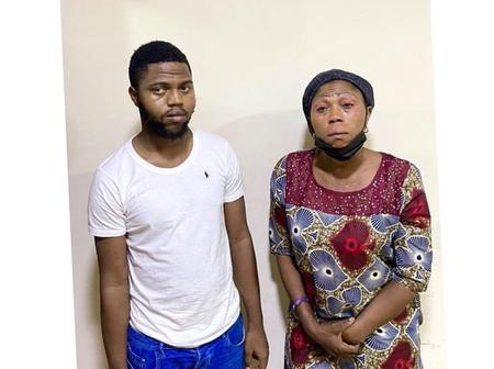 Mother & Son Arrested For N50m Fraud, See The Look On The Woman's Face
