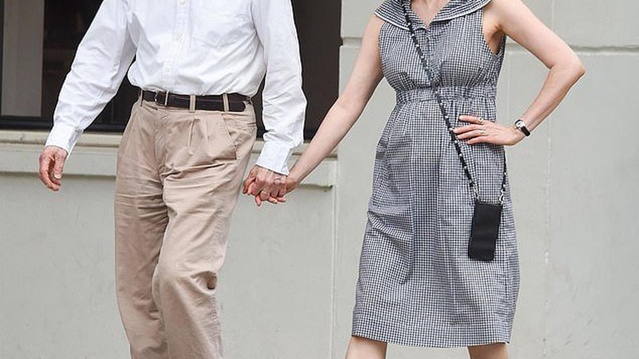 Woody Allen, 85, holds hands with wife Soon-Yi Previn, 50, on stroll in New York City