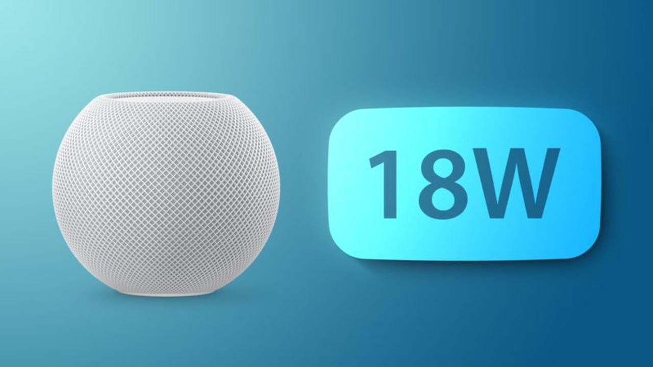HomePod Mini presently works with select 18W chargers following the 14.3 software update