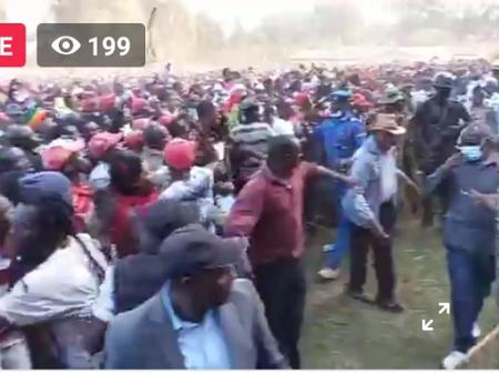 Mammoth Crowd Gather In Uthiru Ground In Meru To Welcome The Deputy President