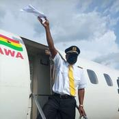 Check out the reaction of the first pilot who flew commercially to the newly opened Ho airport