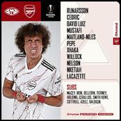 Arsenal starting line up to face Molde