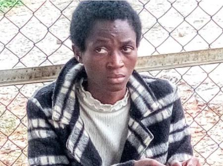 Nigerian Lady Found Roaming Around Lagos Airport After Deportation From Oman (Photo)