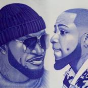 Check Out These Amazing Pen Drawings Of Davido And Mr. P Made By A Nigerian Artist
