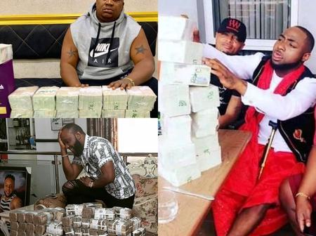 Photos Of Nigerian Celebrities Posing With Money