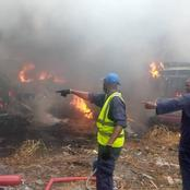 10 cars, one trailer razed as LASTMA yard where seized vehicles are parked goes up in flames