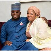 See Romantic Photos Of Governor Yahaya Bello And His Three Beautiful Wives.
