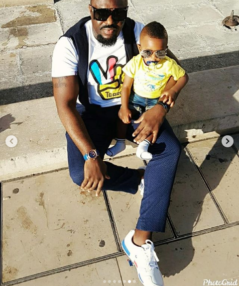 Actor, Jim Ijke visits the Eiffel Tower with his young son Harvis?(photos)