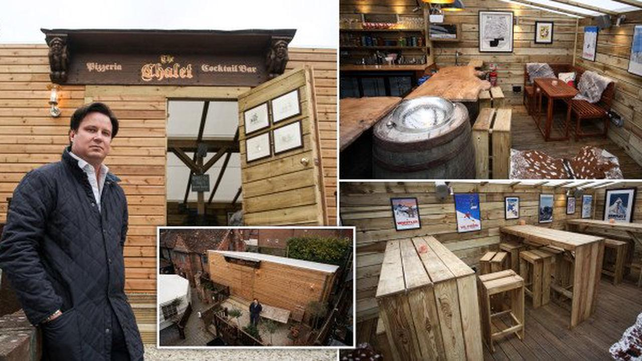 Pub landlord banned from using new £50,000 chalet as it breaks Covid rules