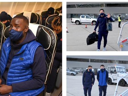 Photo: Edouard Mendy, Kurt Zouma, Chritensen, Others catch their flight as Chelsea Jet out to France