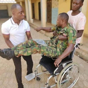 My wife left me, I lost my father in 2001- Wounded soldier who was abandoned laments on wheelchair