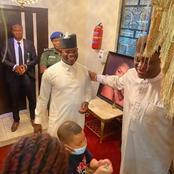 Photos: Yahaya Bello visits Femi Fani-Kayode in his Abuja residence.