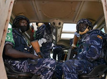 Somali Police Force AMISOM Intensify Security Patrols in Mogadishu City