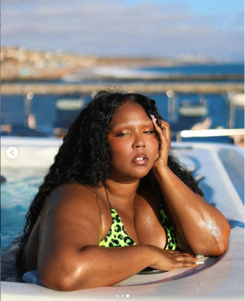 Singer Lizzo showcases her eye-popping assets in skimpy bikini (photos)