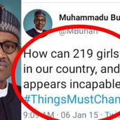 Flashback: See what Buhari Tweeted In 2015 About The Abducted Chibok Girls That Got People Talking