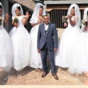 A traditional healer married six wives at the same time