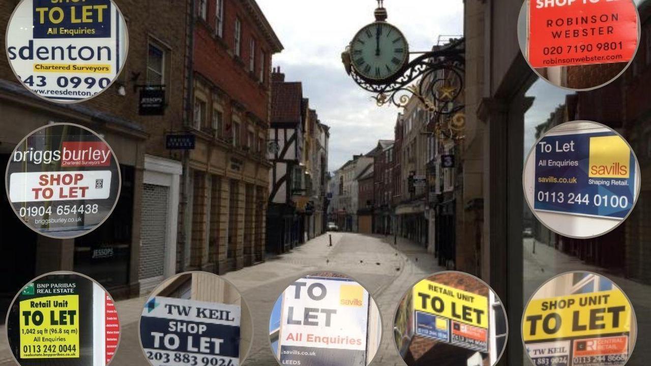 Nine shops 'to let' in York's premier retail street