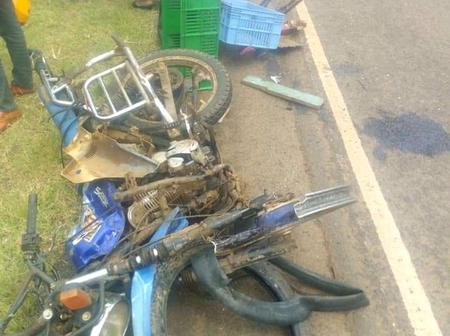 Tragic Accident: Another Accident Happens in Nyeri involving A motorbike And Personal Car.