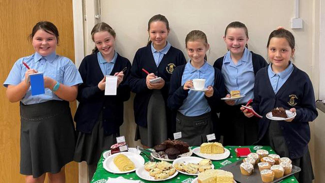 Primary school pupils raise funds for Macmillan with coffee morning