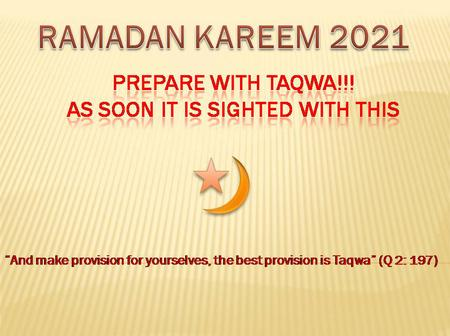 Muslim countries mostly Arab Countries decides to fast on Tuesday as it marks the 1st day of Ramadan