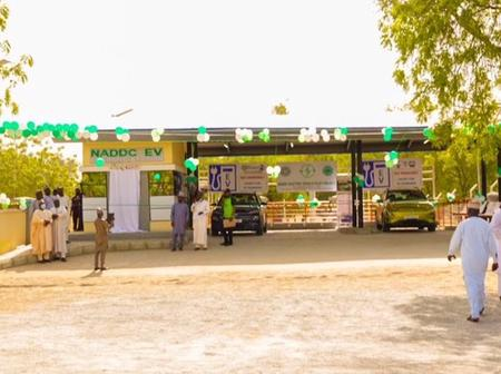 Pictures of the first electric vehicles charging station in Nigeria