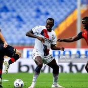 Super Eagles star reacts after becoming Italian serie A giant's all-time highest goal scorer (Photo)