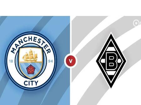 Manchester City vs Borussia Moenchengladbach 100% Sure Tip