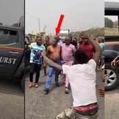 Mixed Reactions As Igboho Was Seen Topless, Confronting DSS When They Attempt To Arrest Him (Video)