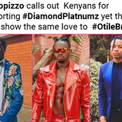 Netizens react After Irate Octopizzo Calls Them out For supporting Diamond more than Their own Otile