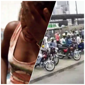 Ladies be Careful When Taking an Okada, a Lady Took One on Her Way to Church and this Happened