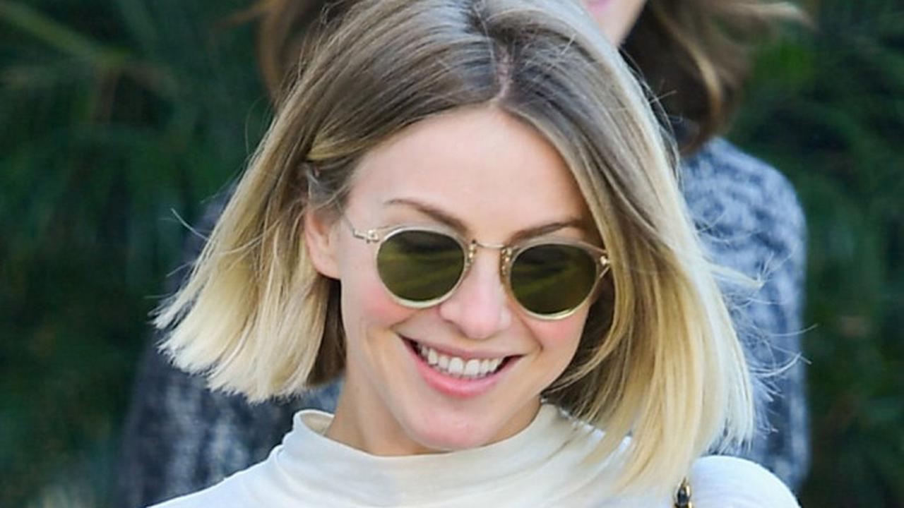 Julianne Hough Pops in a Neon Catsuit, Puffer & Snow Boots on the Slopes