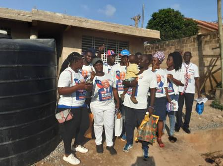 Omanjor NPP campaign crew, holds a house to house campaign ahead of election 2020.