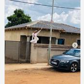 Ntando Duma builds a House for her mom, some people criticise the