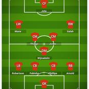 How Liverpool could line up against Fulham And Avoid Another Defeat At Home.