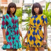 13 Corporate Short Ankara Gowns For Work