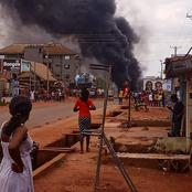 Abakpa Nike Area in Enugu State is Going Up in Flames.