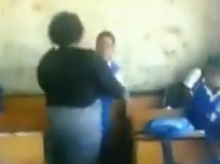 WATCH: Female Teacher And Schoolgirl Throw Fists At Each Other In Class