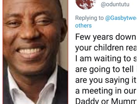 #EndSars: Are you saying it's illegal to hold a meeting in our house? Fan reacts to Sowore statement