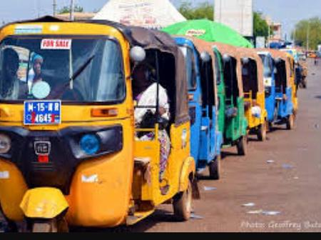 B/R: Tricycle (Pragyea) Services New Fare Has Been Declined By Passengers In Dormaa