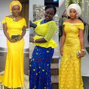 Lace fashion: Try these elegant yellow lace outfits for all outings