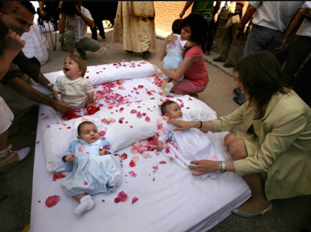Check Out The Festival in Spain Where People Believe Satan Takes Away The Sins Of Newborn Babies