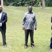 President Uhuru's Secret Push For Alliance Revealed as Gideon Moi, Muhoho Visit Raila Odinga
