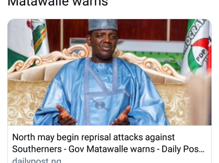 An Open Letter To Gov. Matawalle Over His Threat Of North Reprisal Attacks Against South