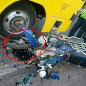 Grisly Accident Involving A School Bus And A Motorbike Along Nakuru-Eldoret Road
