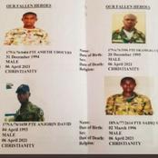 Military Reveals The Names & Pictures Of The 12 Soldiers Killed In Benue
