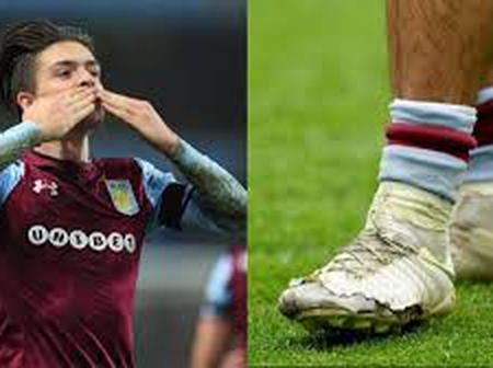 Photos of Jack Grealish Lucky-Charm Nike Boot which got Aston Villa to join the Premier league.